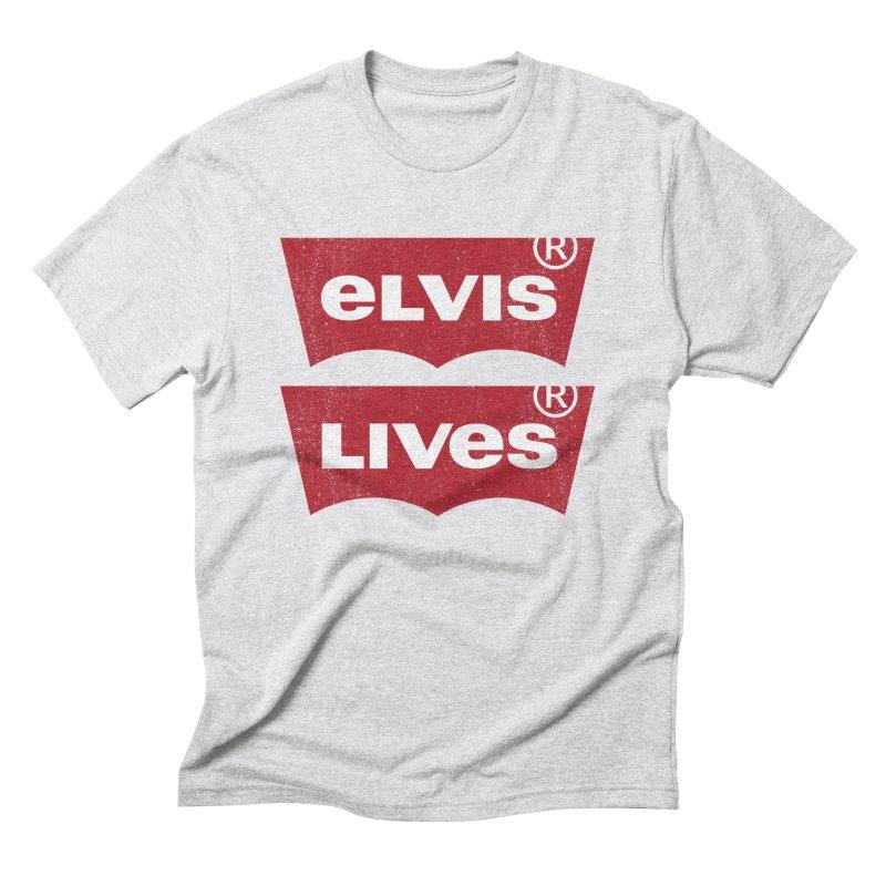 Elvis Lives! - (v2) Men's Triblend T-Shirt by mrdelman's Artist Shop