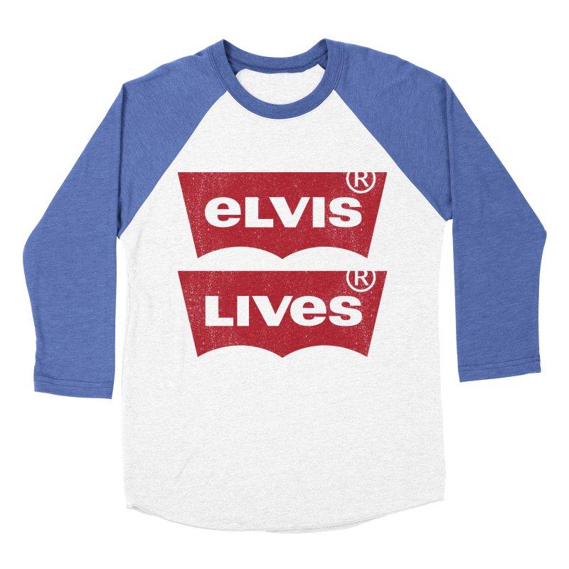 Elvis Lives! - (v2) Women's Longsleeve T-Shirt by mrdelman's Artist Shop