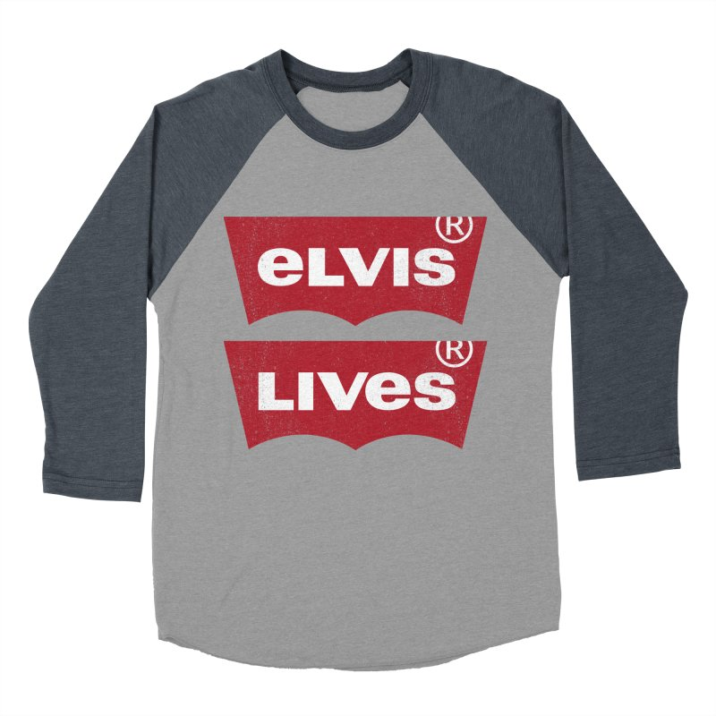 Elvis Lives! - (v2) Women's Baseball Triblend Longsleeve T-Shirt by mrdelman's Artist Shop