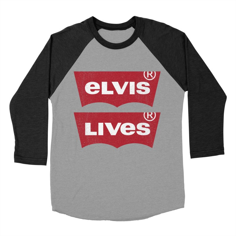 Elvis Lives! - (v2) Men's Baseball Triblend Longsleeve T-Shirt by mrdelman's Artist Shop