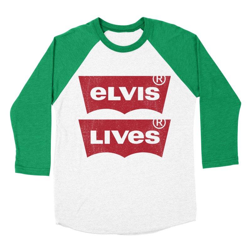 Elvis Lives! - (v2) Men's Baseball Triblend T-Shirt by mrdelman's Artist Shop