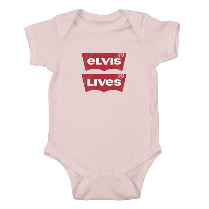 Elvis Lives! - (v2) Kids Baby Bodysuit by mrdelman's Artist Shop