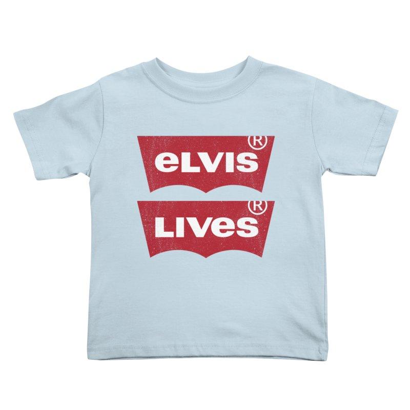 Elvis Lives! - (v2) Kids Toddler T-Shirt by mrdelman's Artist Shop