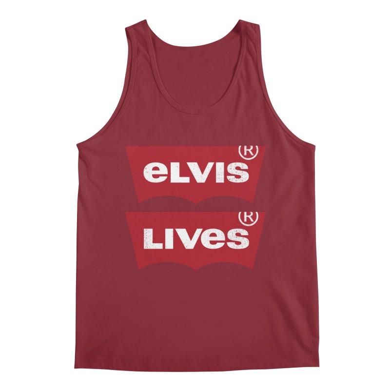 Elvis Lives! - (v2) Men's Regular Tank by mrdelman's Artist Shop