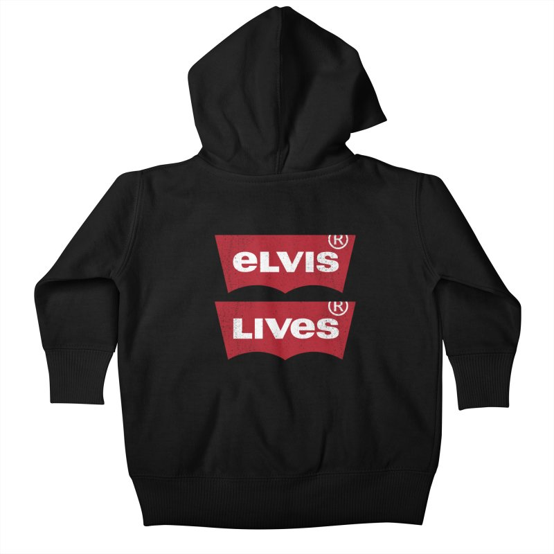 Elvis Lives! - (v2) Kids Baby Zip-Up Hoody by mrdelman's Artist Shop