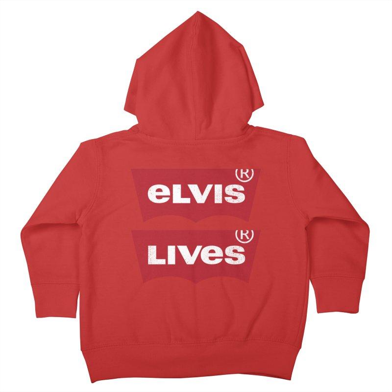 Elvis Lives! - (v2) Kids Toddler Zip-Up Hoody by mrdelman's Artist Shop