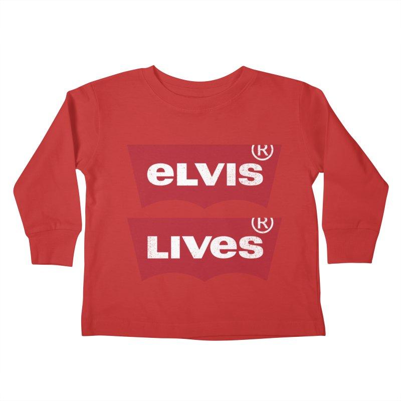Elvis Lives! - (v2) Kids Toddler Longsleeve T-Shirt by mrdelman's Artist Shop