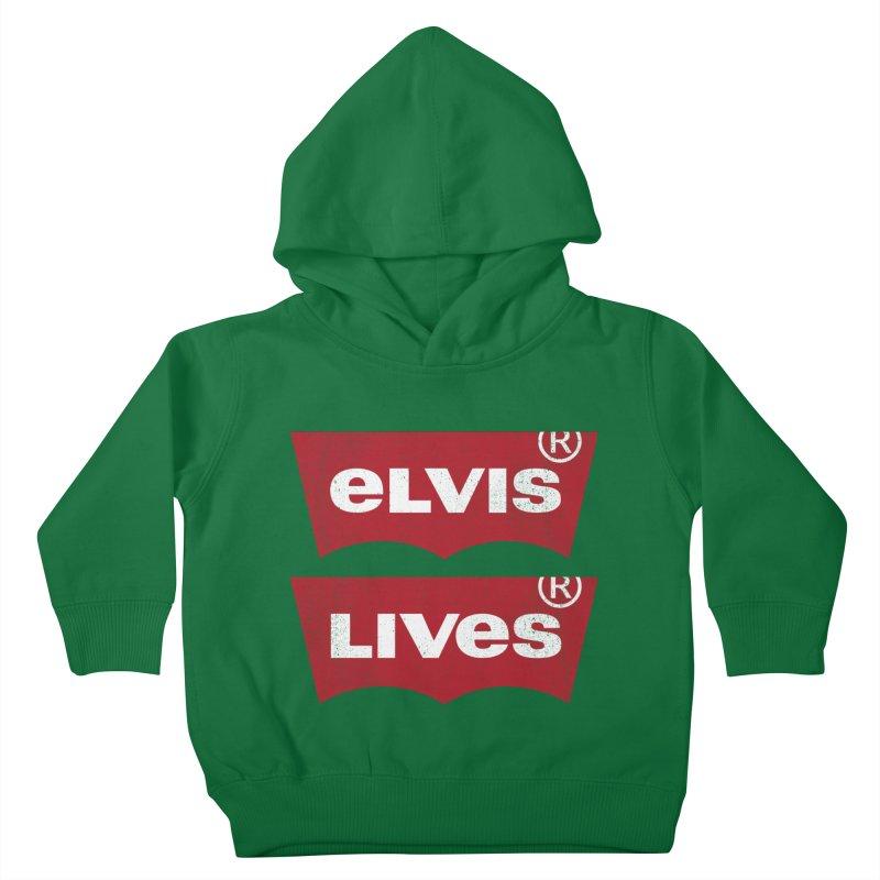 Elvis Lives! - (v2) Kids Toddler Pullover Hoody by mrdelman's Artist Shop