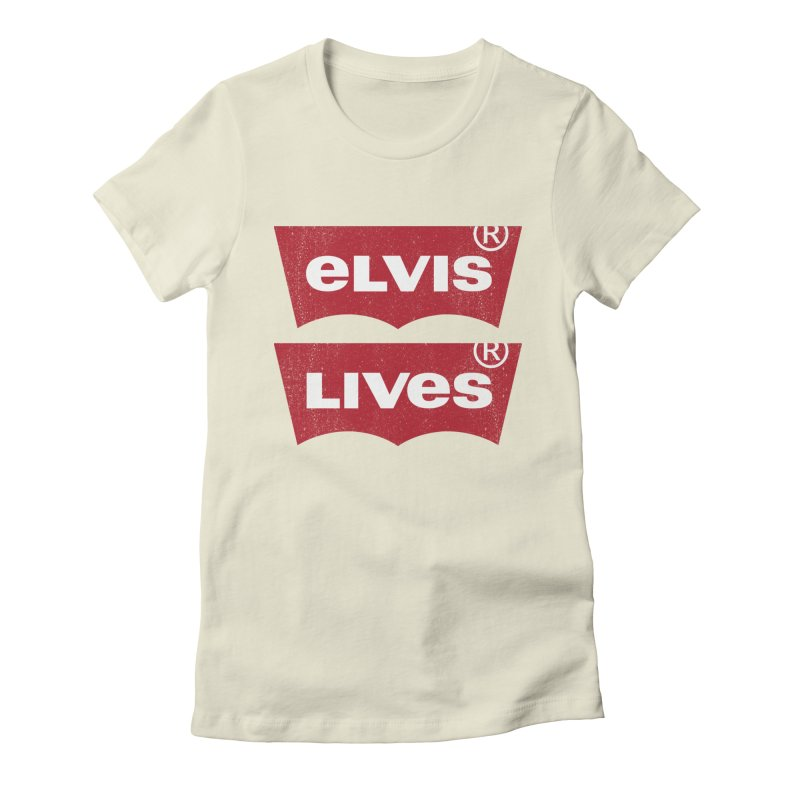 Elvis Lives! - (v2) Women's Fitted T-Shirt by mrdelman's Artist Shop