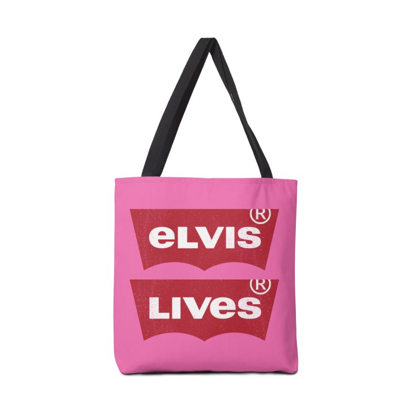 Elvis Lives! - (v2) Accessories Tote Bag Bag by mrdelman's Artist Shop