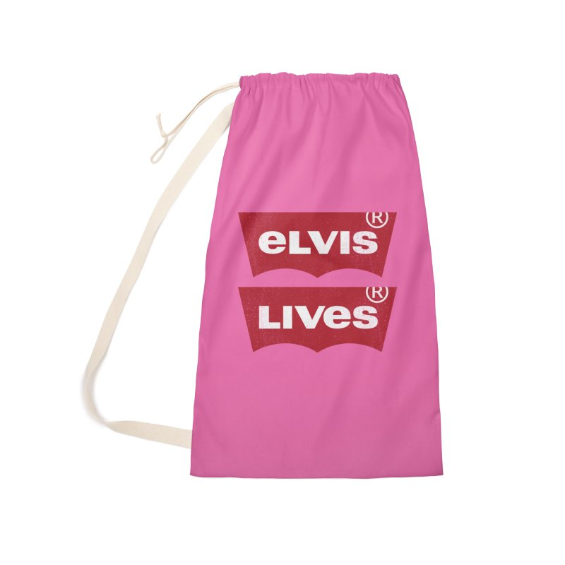 Elvis Lives! - (v2) Accessories Laundry Bag Bag by mrdelman's Artist Shop