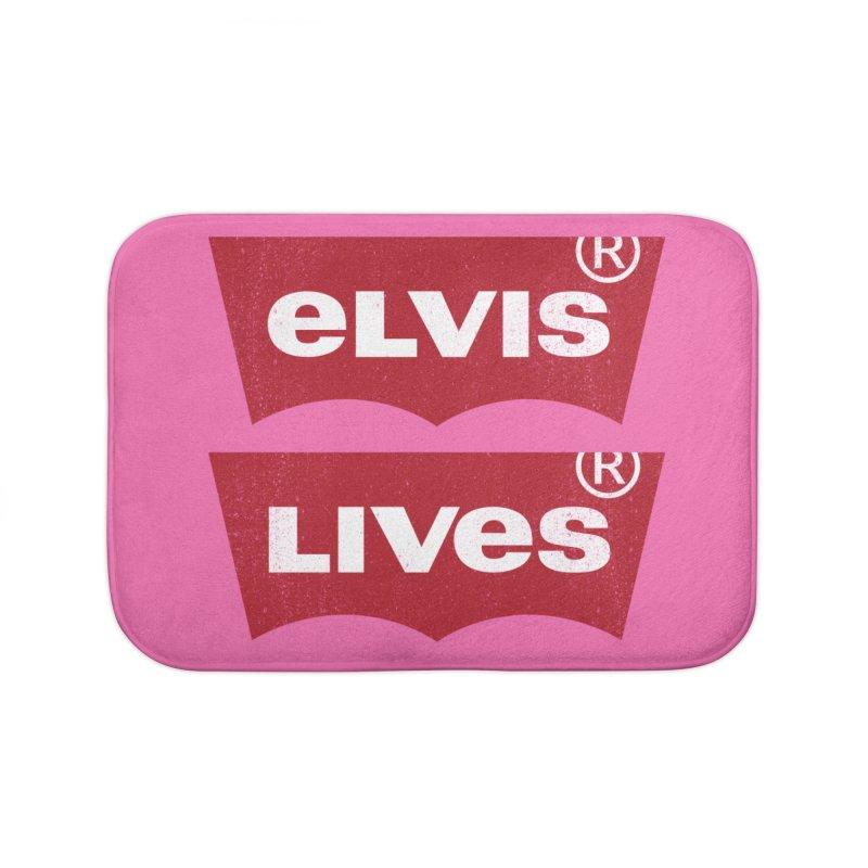 Elvis Lives! - (v2) Home Bath Mat by mrdelman's Artist Shop