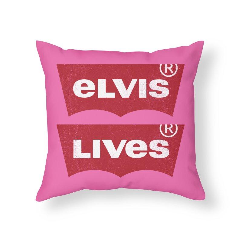 Elvis Lives! - (v2) Home Throw Pillow by mrdelman's Artist Shop