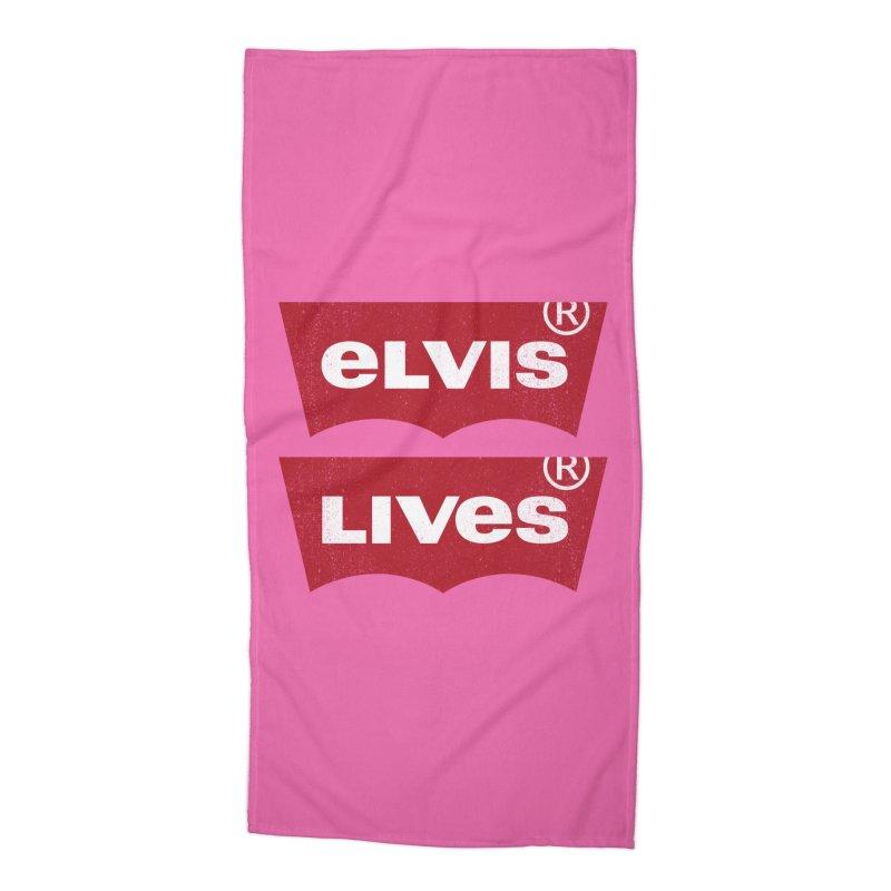 Elvis Lives! - (v2) Accessories Beach Towel by mrdelman's Artist Shop
