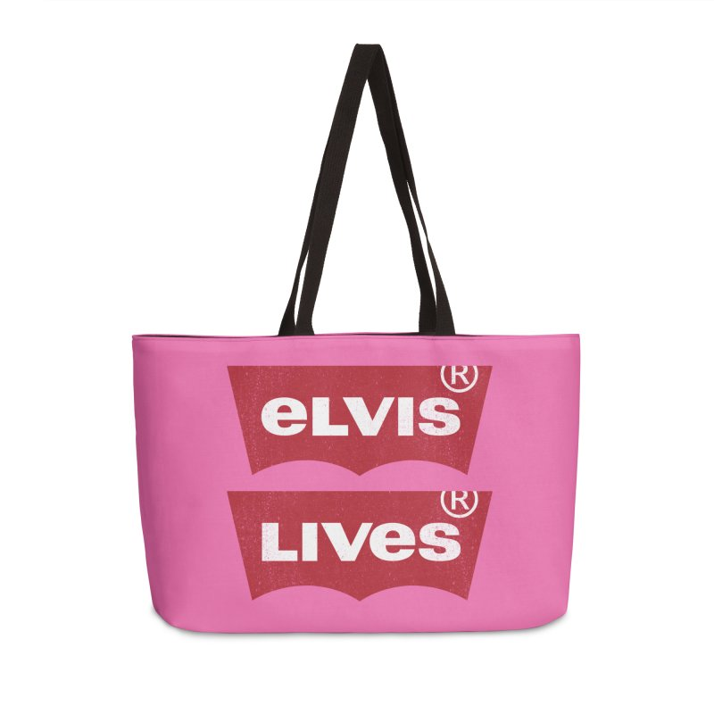 Elvis Lives! - (v2) Accessories Weekender Bag Bag by mrdelman's Artist Shop
