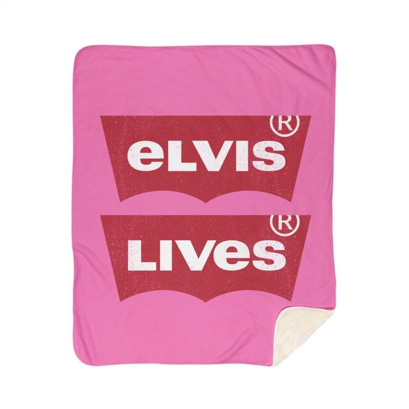 Elvis Lives! - (v2) Home Blanket by mrdelman's Artist Shop