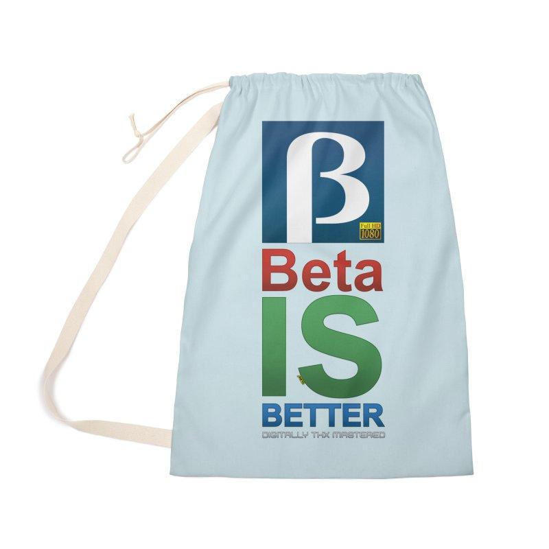 BETA IS BETTER Accessories Bag by mrdelman's Artist Shop