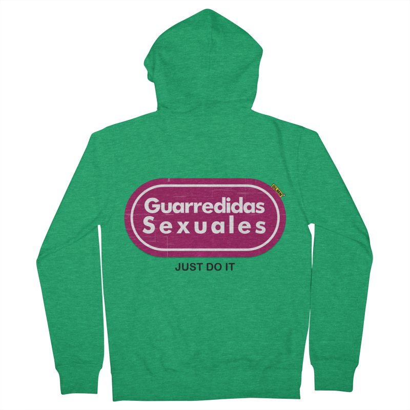 Guarredidas Sexuales Women's French Terry Zip-Up Hoody by mrdelman's Artist Shop