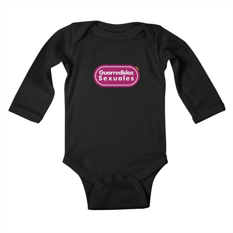 Guarredidas Sexuales Kids Baby Longsleeve Bodysuit by mrdelman's Artist Shop