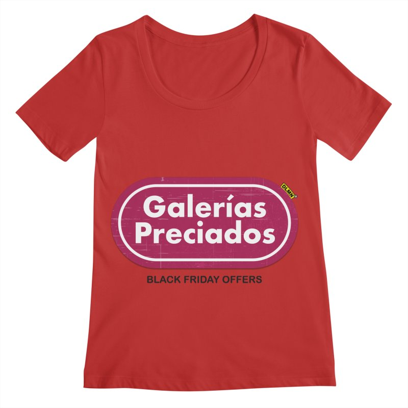 Galerías Preciados Women's Regular Scoop Neck by mrdelman's Artist Shop