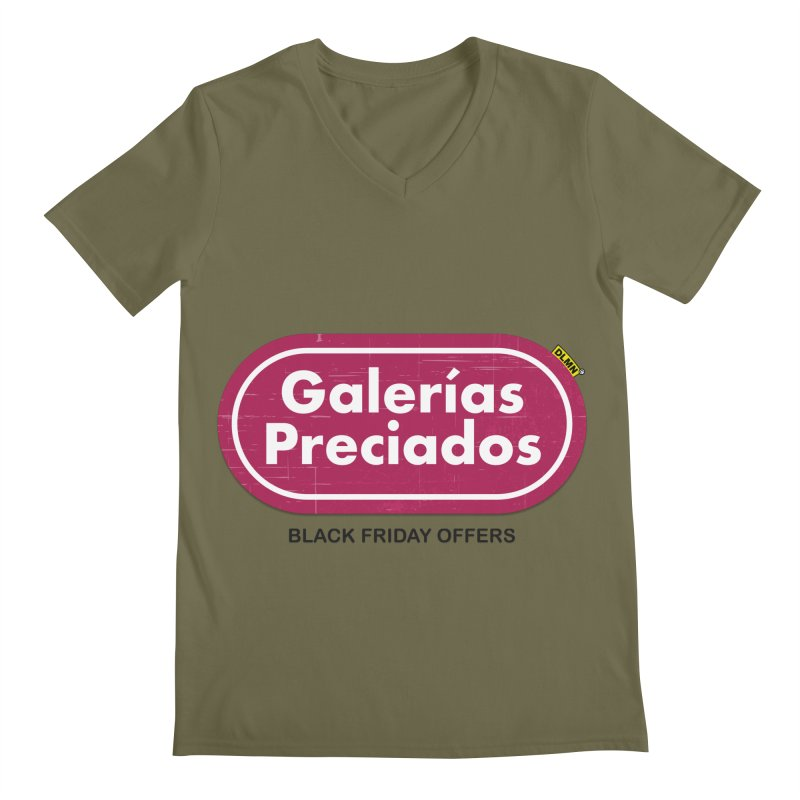 Galerías Preciados Men's Regular V-Neck by mrdelman's Artist Shop