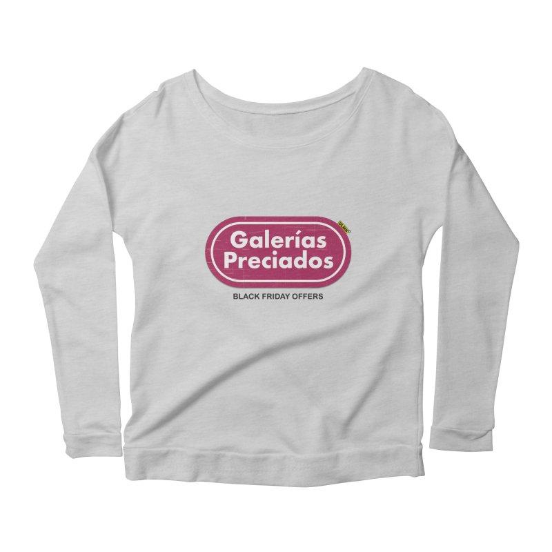 Galerías Preciados Women's Scoop Neck Longsleeve T-Shirt by mrdelman's Artist Shop