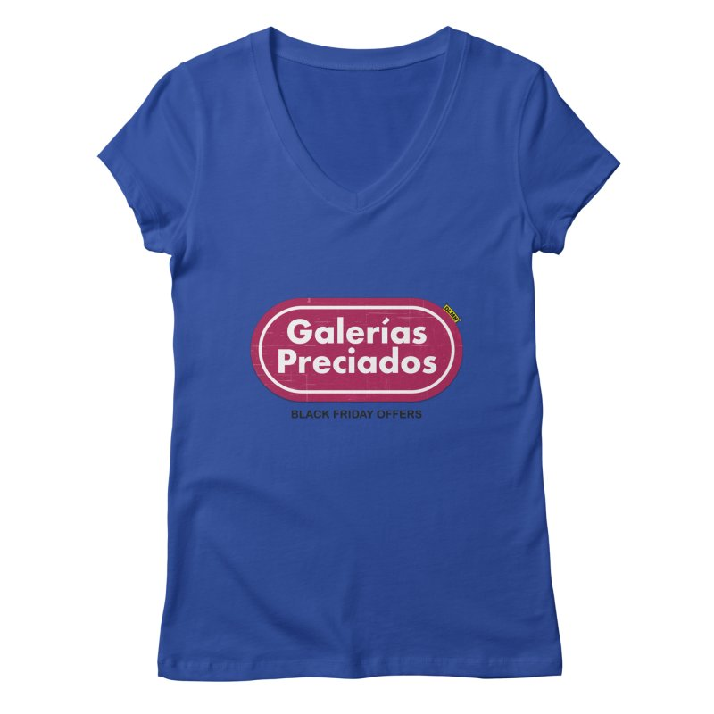 Galerías Preciados Women's Regular V-Neck by mrdelman's Artist Shop