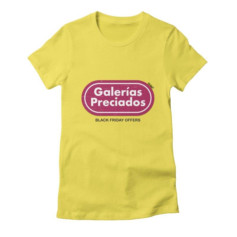 Galerías Preciados Women's Fitted T-Shirt by mrdelman's Artist Shop