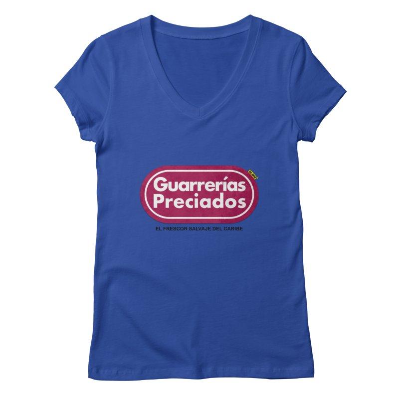 Guarrerías Preciados Women's Regular V-Neck by mrdelman's Artist Shop