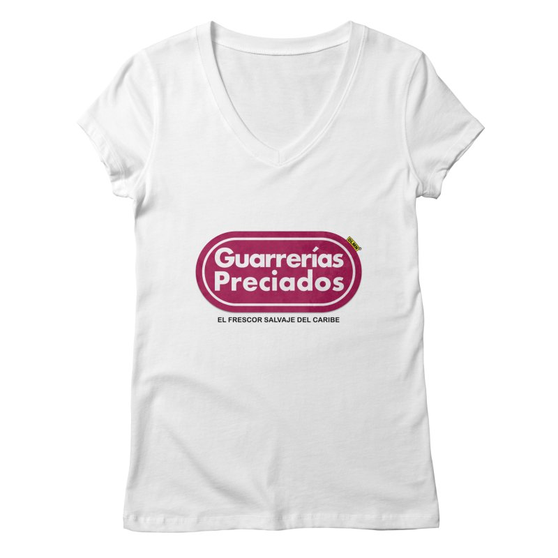 Guarrerías Preciados Women's Regular V-Neck by mrdelman's Artist Shop