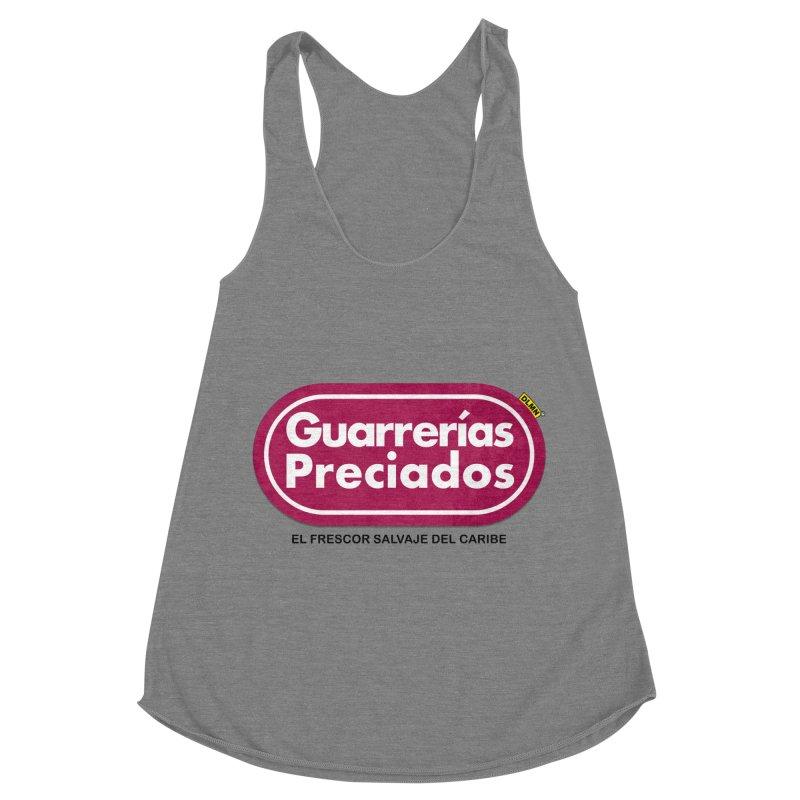 Guarrerías Preciados Women's Racerback Triblend Tank by mrdelman's Artist Shop