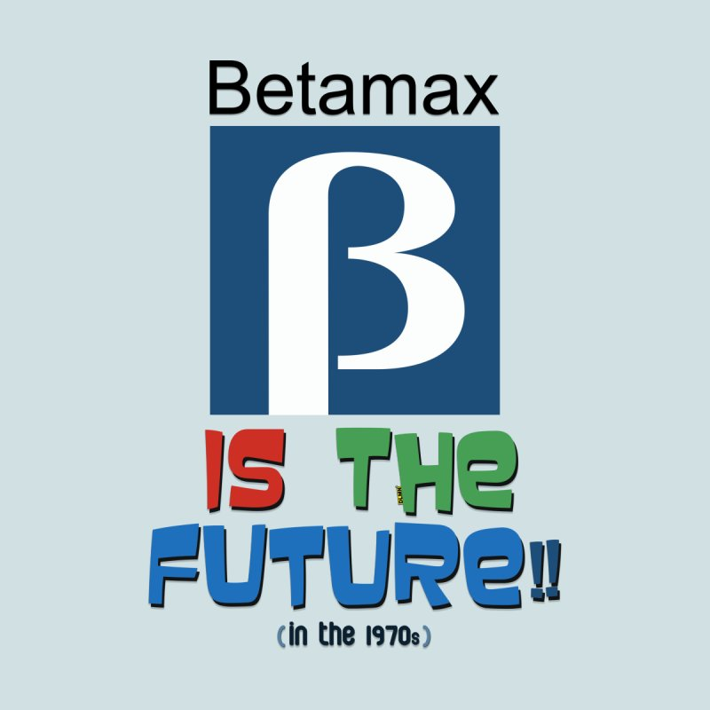 Betamax is the future!! (in the 70s) Men's V-Neck by mrdelman's Artist Shop