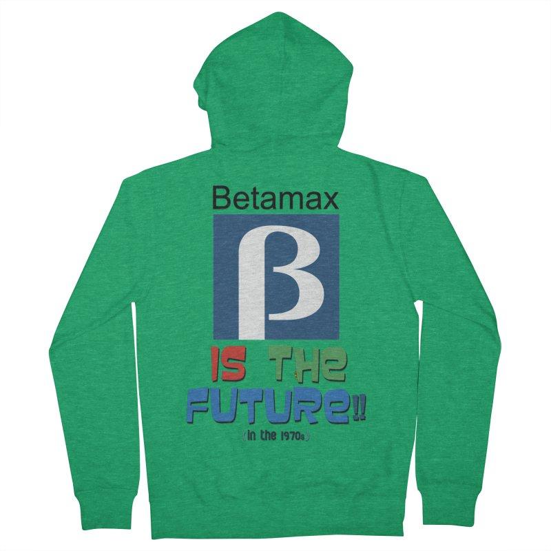 Betamax is the future!! (in the 70s) Men's Zip-Up Hoody by mrdelman's Artist Shop