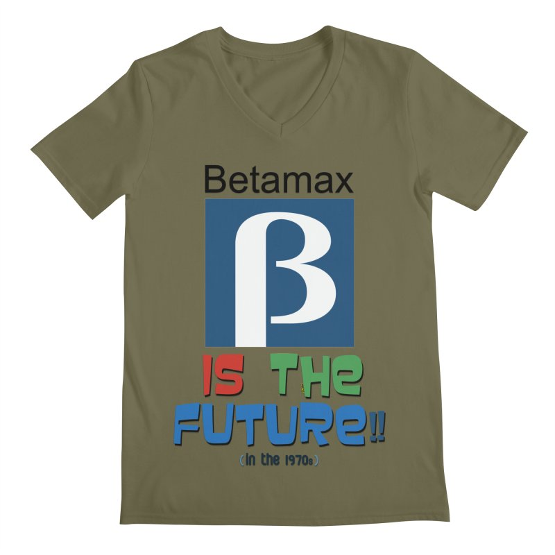Betamax is the future!! (in the 70s) Men's Regular V-Neck by mrdelman's Artist Shop