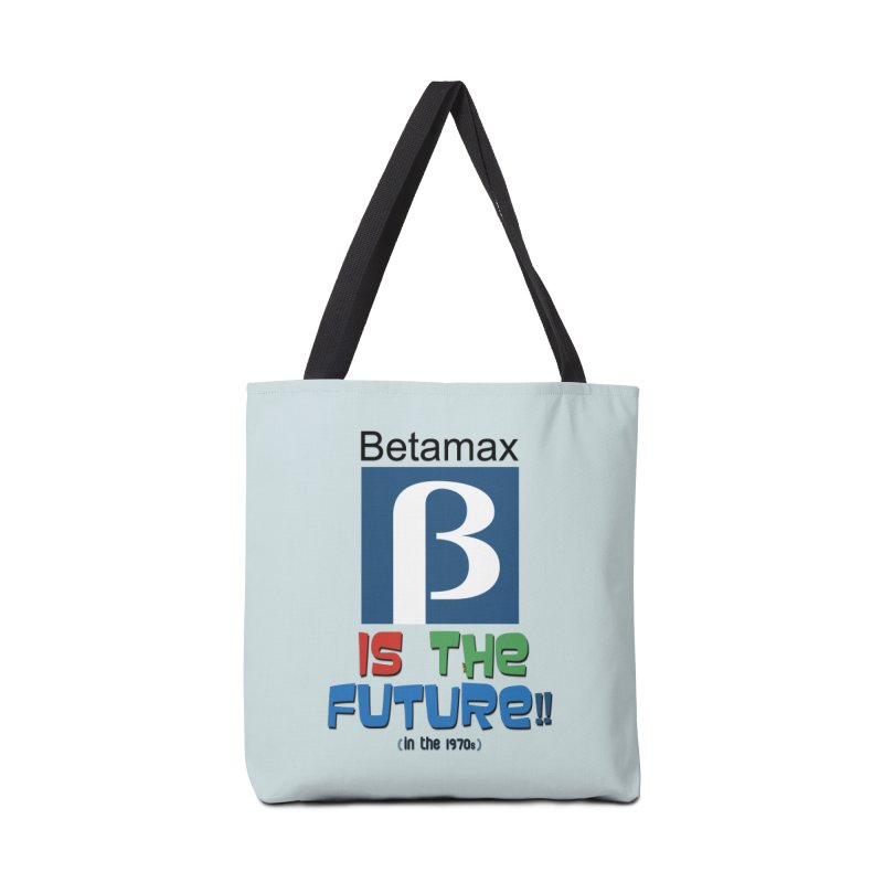 Betamax is the future!! (in the 70s) Accessories Tote Bag Bag by mrdelman's Artist Shop
