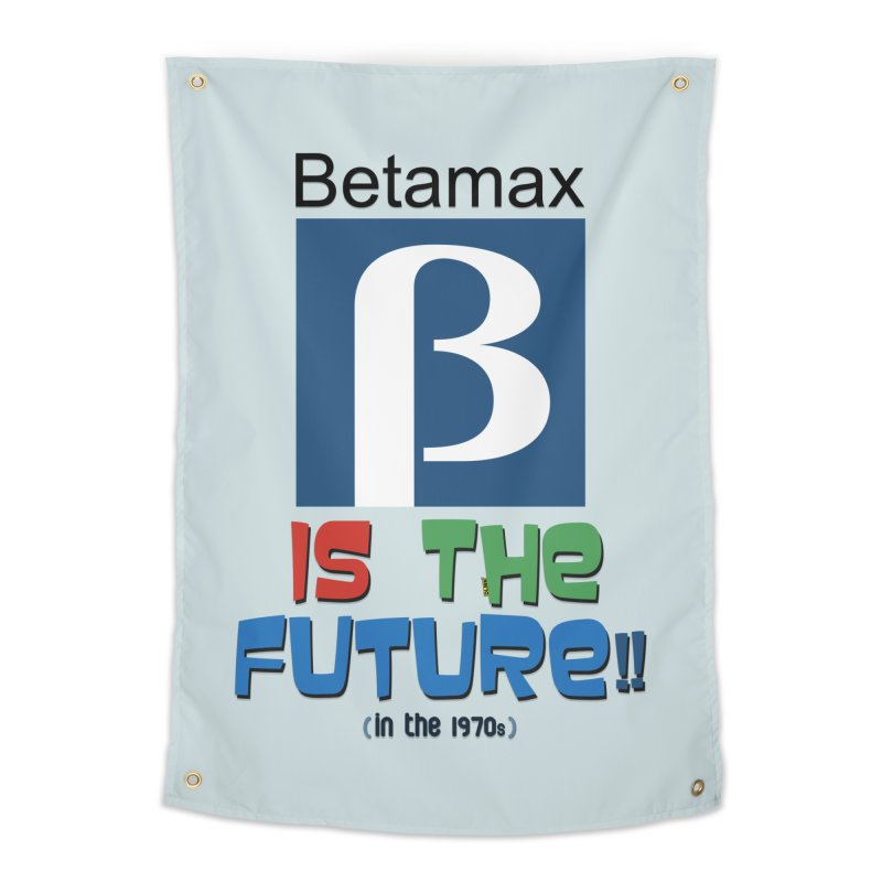 Betamax is the future!! (in the 70s) Home Tapestry by mrdelman's Artist Shop