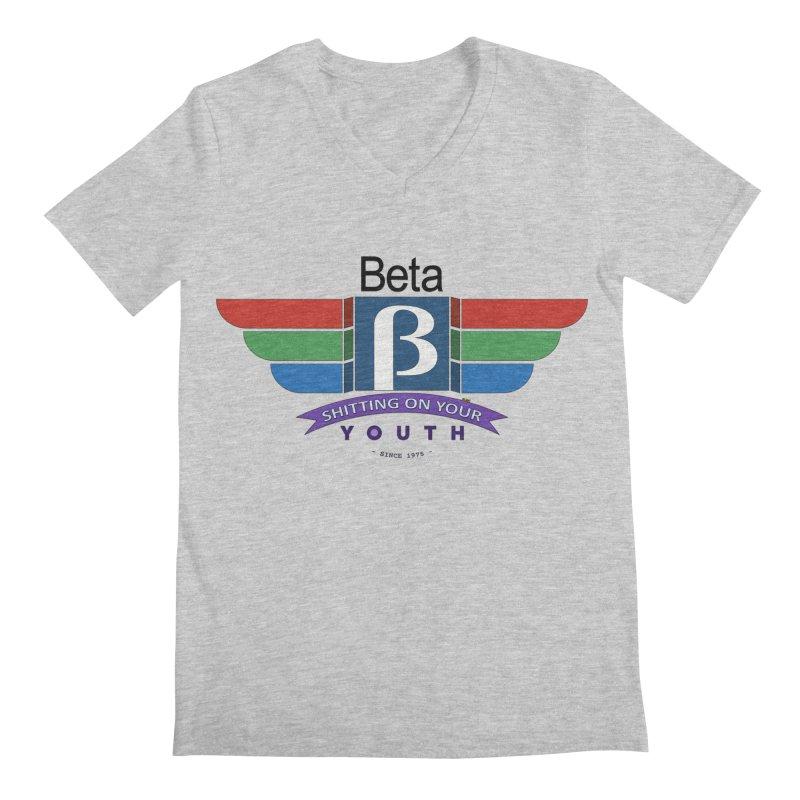 Beta, shitting on your youth since 1975 Men's Regular V-Neck by mrdelman's Artist Shop