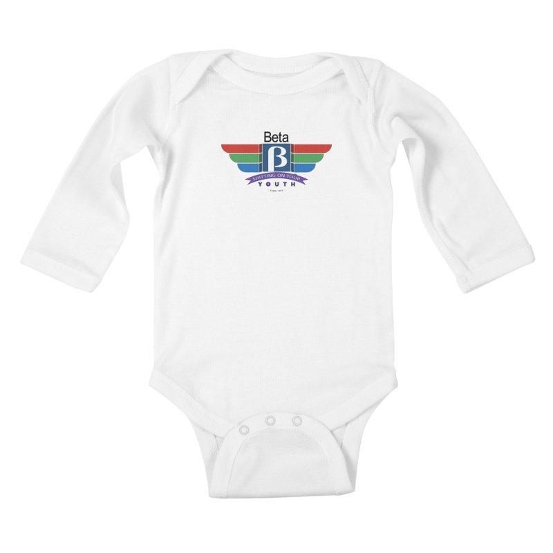 Beta, shitting on your youth since 1975 Kids Baby Longsleeve Bodysuit by mrdelman's Artist Shop