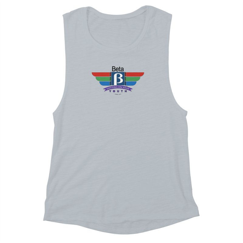 Beta, shitting on your youth since 1975 Women's Muscle Tank by mrdelman's Artist Shop