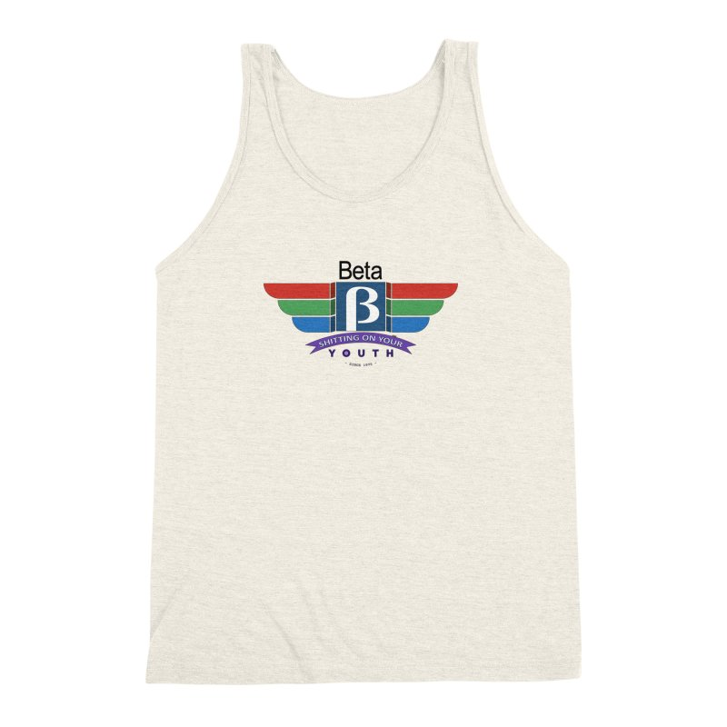 Beta, shitting on your youth since 1975 Men's Triblend Tank by mrdelman's Artist Shop