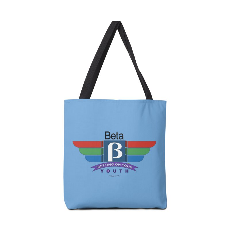 Beta, shitting on your youth since 1975 Accessories Tote Bag Bag by mrdelman's Artist Shop