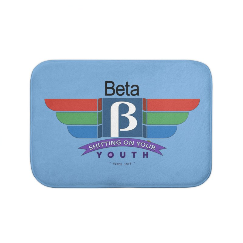 Beta, shitting on your youth since 1975 Home Bath Mat by mrdelman's Artist Shop