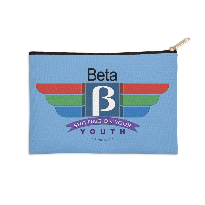 Beta, shitting on your youth since 1975 Accessories Zip Pouch by mrdelman's Artist Shop