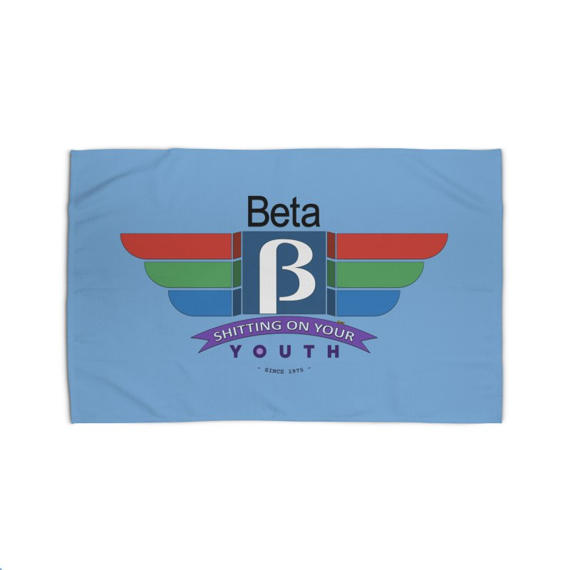 Beta, shitting on your youth since 1975 Home Rug by mrdelman's Artist Shop