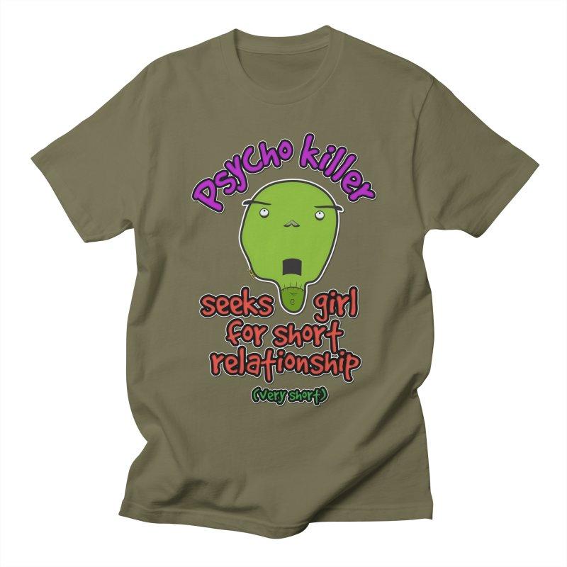 Psycho killer looking for love Men's Regular T-Shirt by mrdelman's Artist Shop