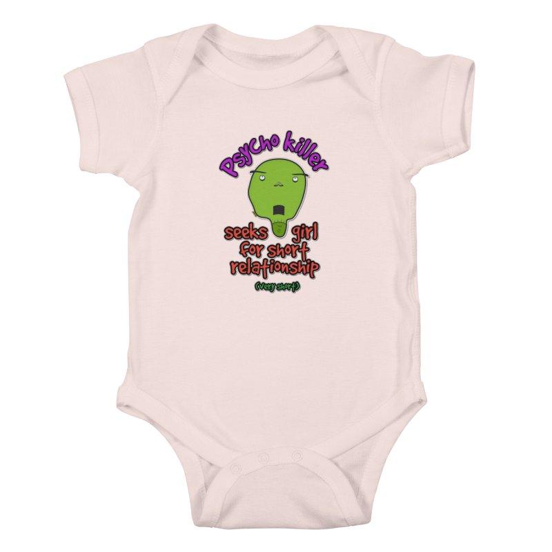 Psycho killer looking for love Kids Baby Bodysuit by mrdelman's Artist Shop