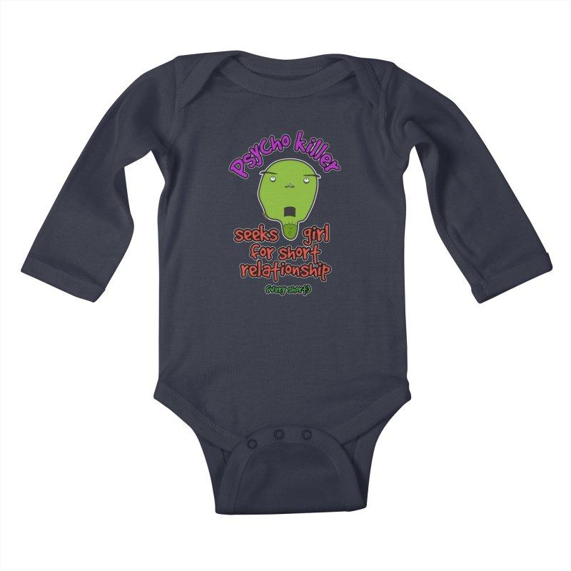 Psycho killer looking for love Kids Baby Longsleeve Bodysuit by mrdelman's Artist Shop