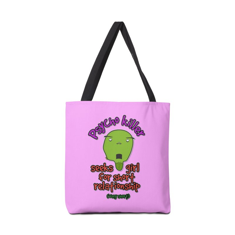 Psycho killer looking for love Accessories Tote Bag Bag by mrdelman's Artist Shop