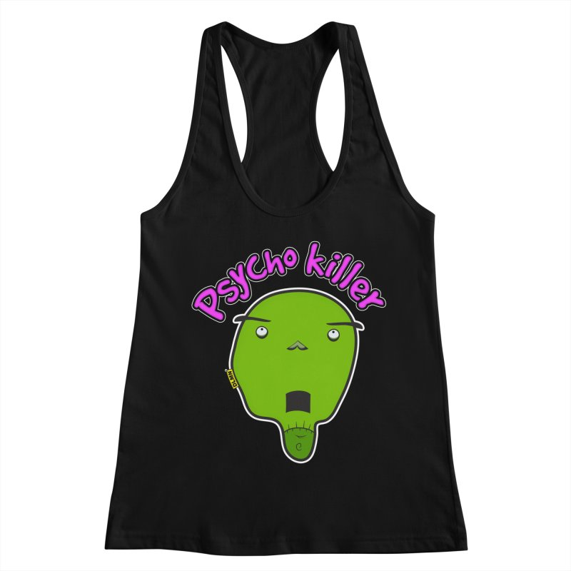 Psycho killer (alone) Women's Racerback Tank by mrdelman's Artist Shop