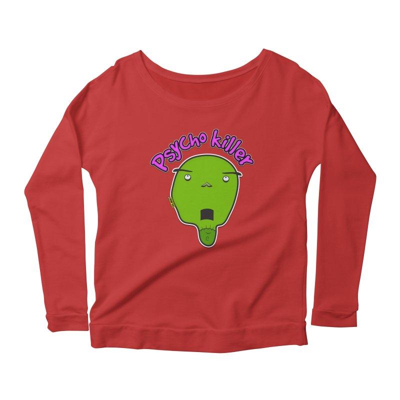 Psycho killer (alone) Women's Scoop Neck Longsleeve T-Shirt by mrdelman's Artist Shop
